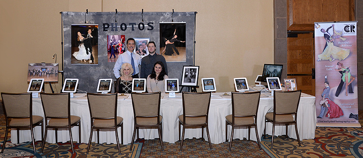 Photo of our booth at a dance competition.